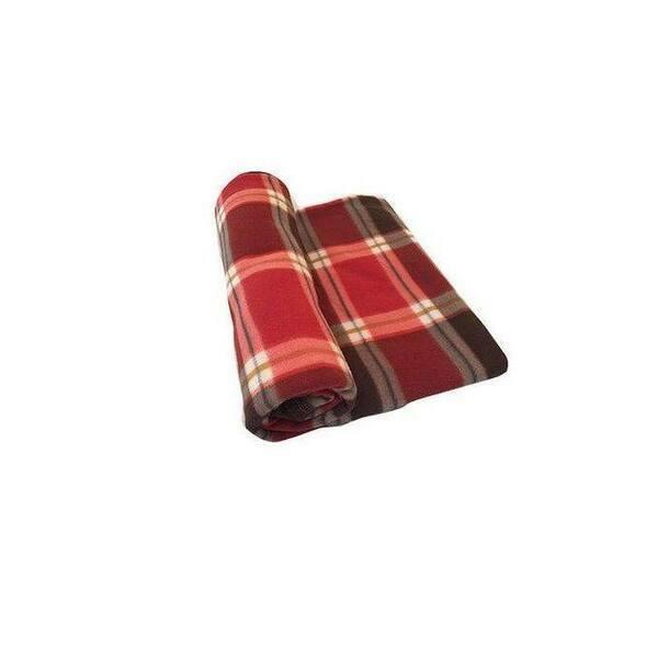 Plaid - 230 cm x 200 cm écossai Rouge /Marron