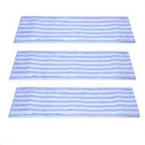 Lot de 3 serpillières microfibre soft pour balai à plat avec poches - 40 cm