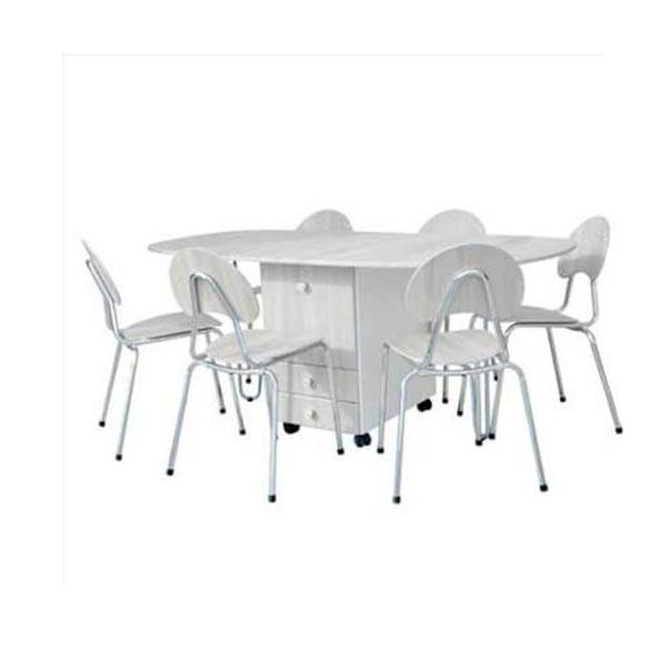 Pack table a tiroir pm + 6 chaises familia