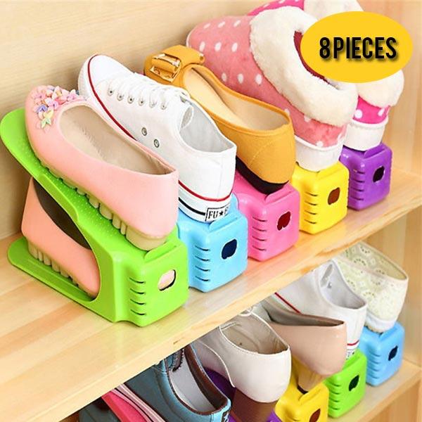 8 pièces organisateur chaussures