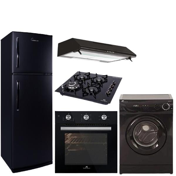 promotion-pack6-machine-a-laver-5kg-noir-montblanc--refrigerateurFG35 MONTBLANC noir-TV32VEGA-pack-encastrable-noir-galaxy-electromenager-cuisine-tunisie