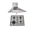 Pack Orientinox: Plaque 4 feux + hotte pyramidale 60 cm